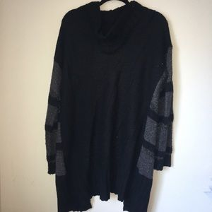 Mossimo Supply Co. Sweaters - Black Stripe Cardigan with Hood